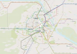 Vienna City Rail Map for train and public transportation  - Overview