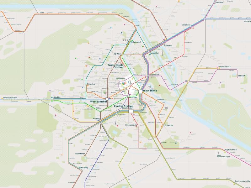Vienna Rail Map  E2 80 A2 A Smart City Guide Map Even Offline