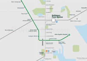 Washington City Rail Map for train and public transportation - Baltimore