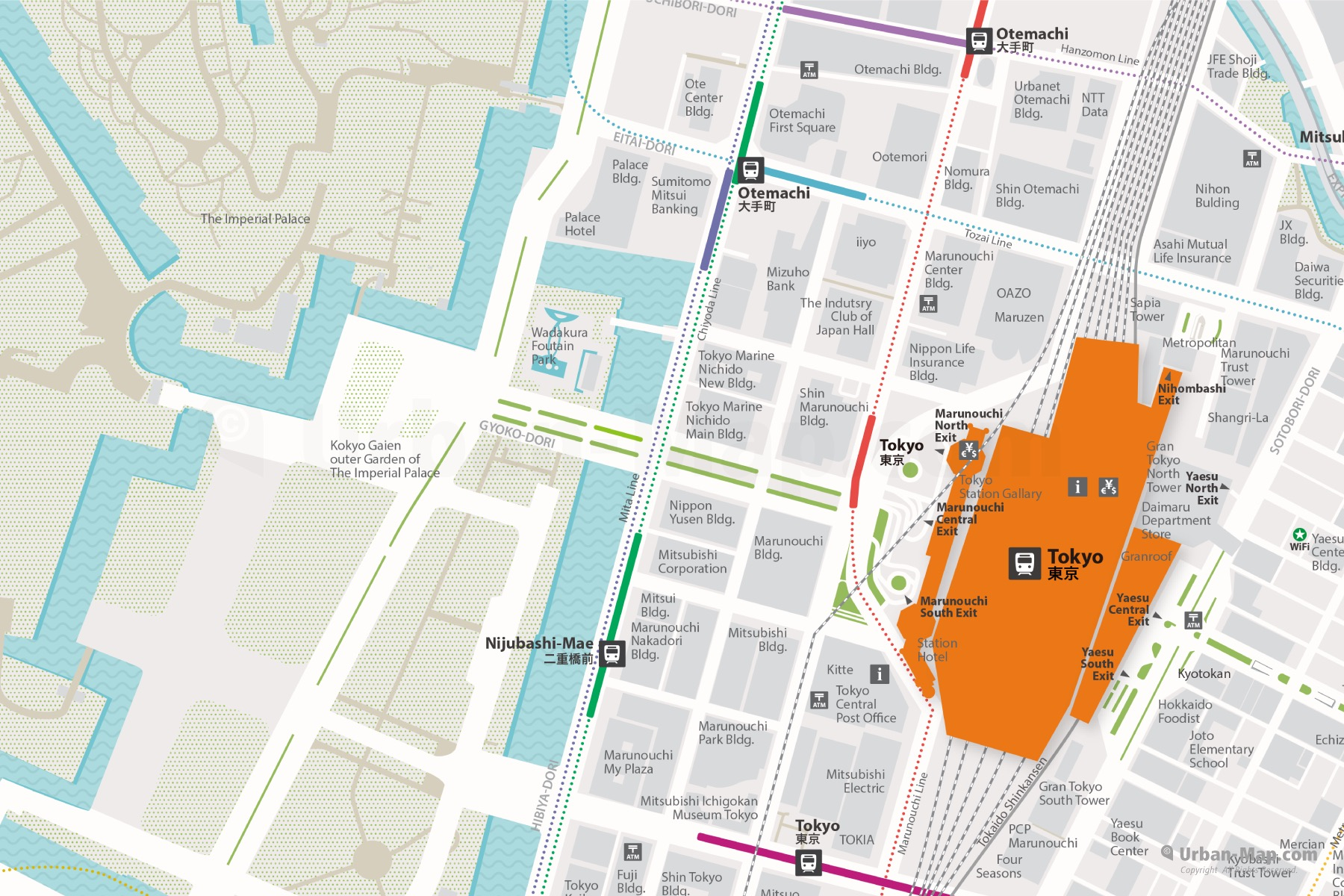 Tokyo Station City Map