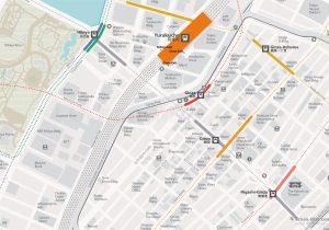 WiFiTokyo City Rail Map for train and public transportation - Ginza and Yurakucho Map