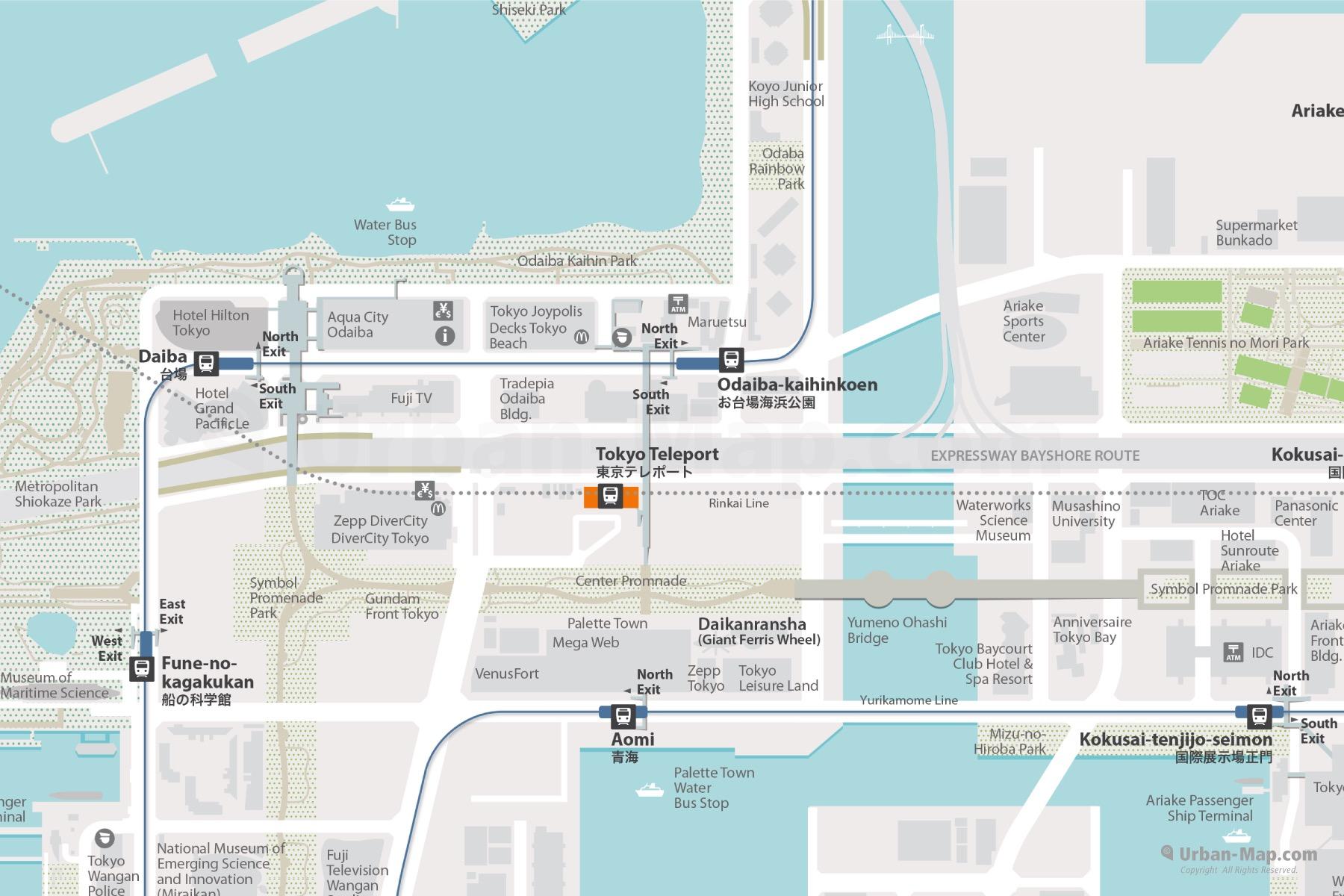Tokyo Odaiba City Map