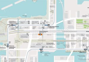 WiFiTokyo City Rail Map for train and public transportation - Tokyo Odaiba City Map