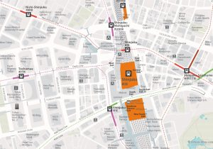 WiFiTokyo City Rail Map for train and public transportation - Shinjuku