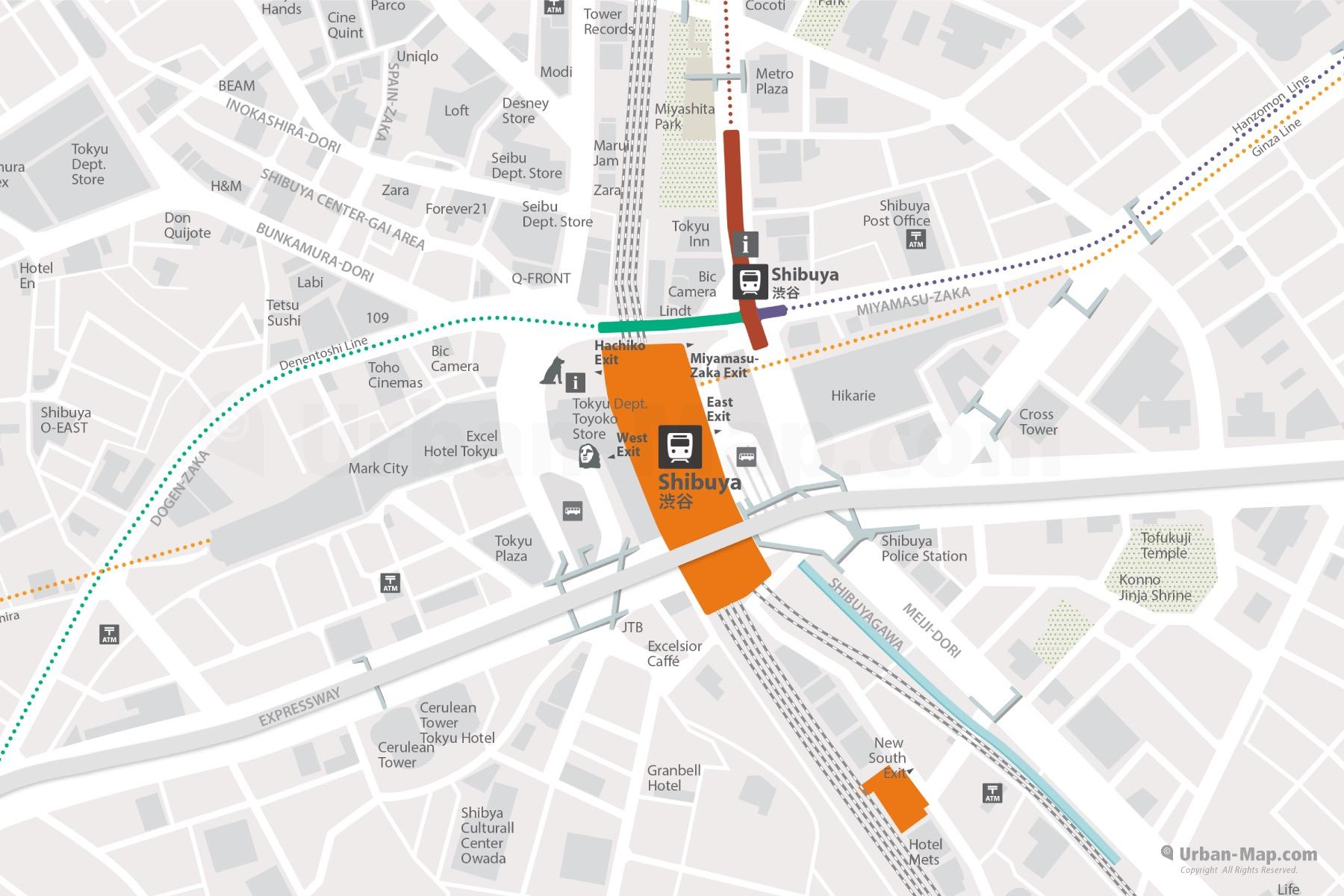 Shibuya City Map