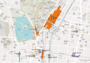 WiFiTokyo City Rail Map for train and public transportation  - Ueno