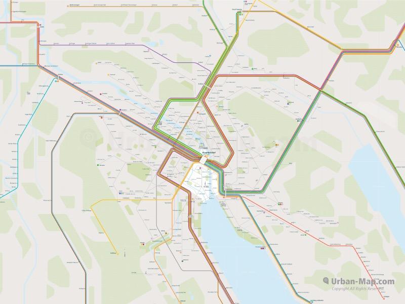 Zurich Rail Map overview