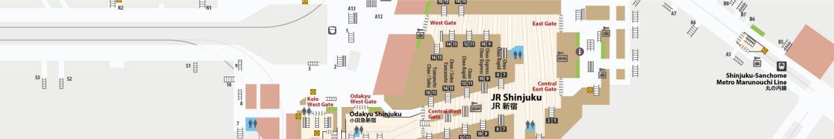 Shinjuku Station Floor Map